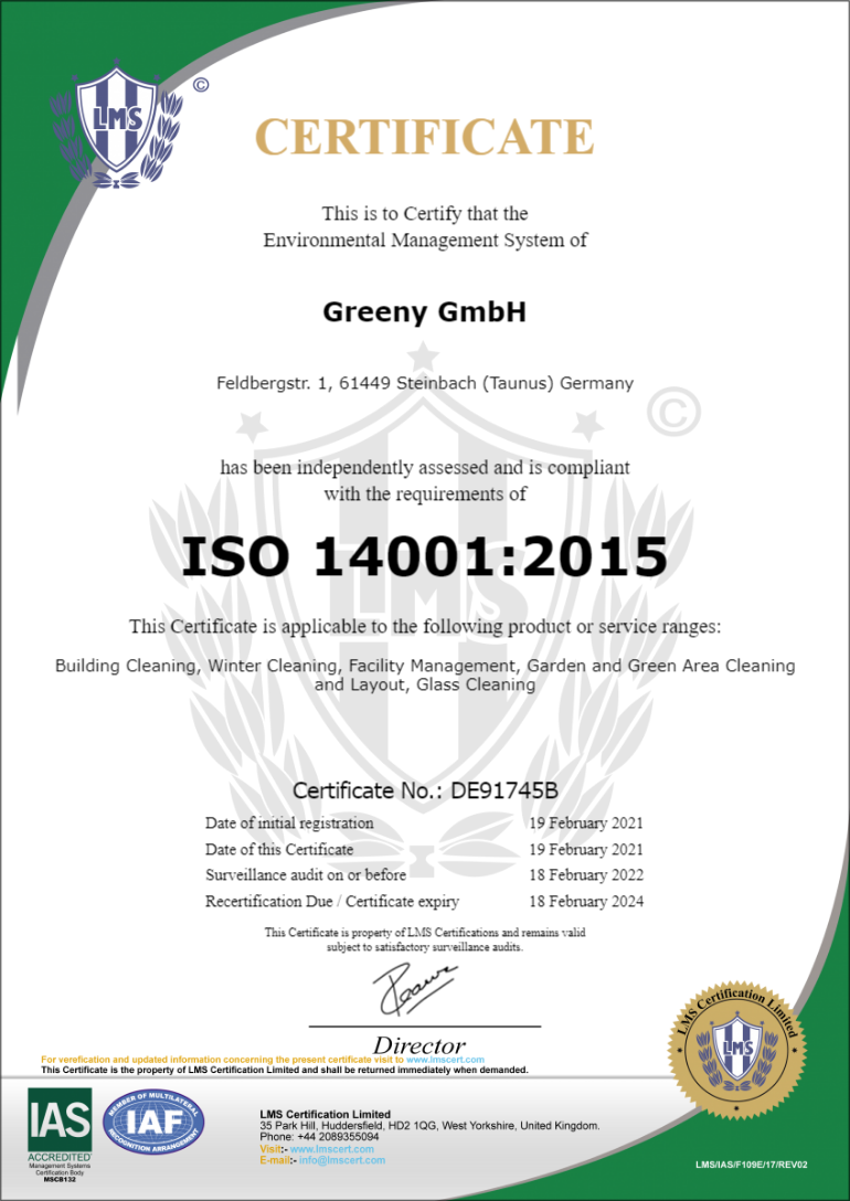 Greeny GmbH 14001 2021